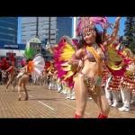 女子高生が派手な衣装でサンバを踊る!ハイスクールサンバ動画