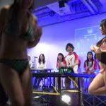 水着や裸エプロン、手ブラ、濡れTシャツで激闘を繰り広げるビキニ卓球トーナメントが凄い!!