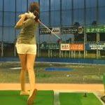 かわいくて美人でスタイル抜群!今話題のゴルフ女子動画